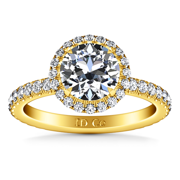 Halo  Engagement Ring Clayton 14K Yellow Gold