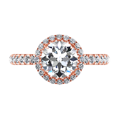 Halo  Engagement Ring Clayton 14K Rose Gold