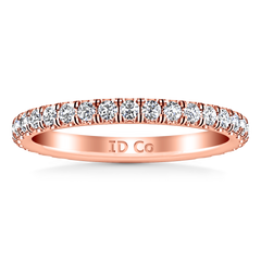 Diamond Wedding Band Clayton 0.55 Cts 14K Rose Gold