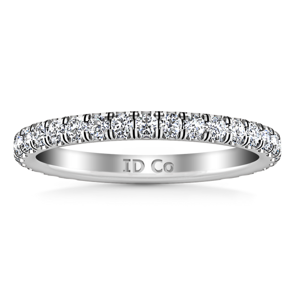 Diamond Wedding Band Clayton 0.55 Cts 14K White Gold