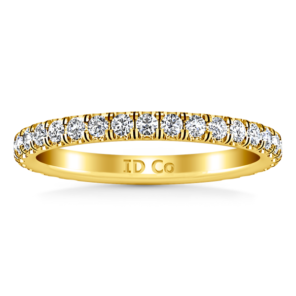 Diamond Wedding Band Clayton 0.55 Cts 14K Yellow Gold