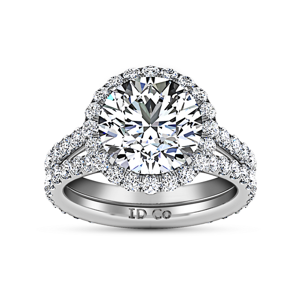 Halo  Engagement Ring Emotion 14K White Gold