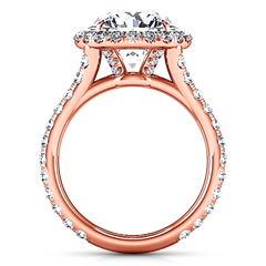 Halo  Engagement Ring Emotion 14K Rose Gold