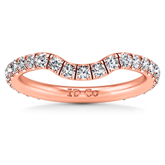 Diamond Wedding Band Emotion 0.58 Cts 14K Rose Gold