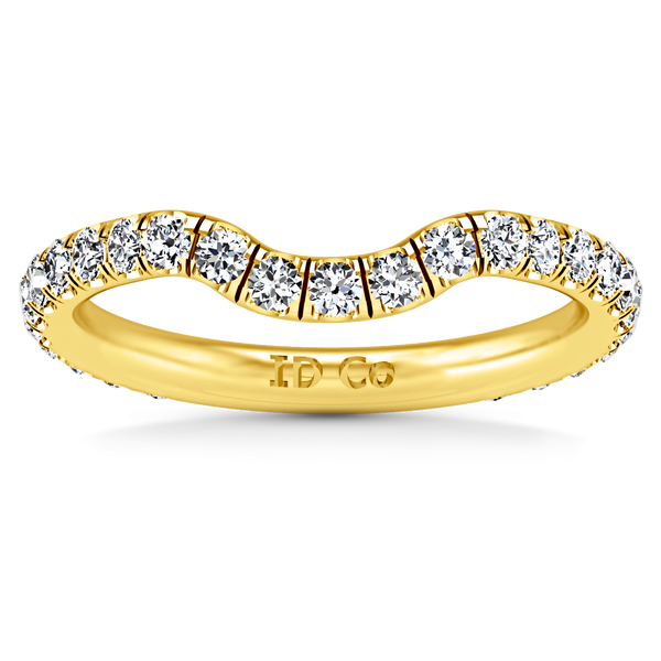 Diamond Wedding Band Emotion 0.58 Cts 14K Yellow Gold