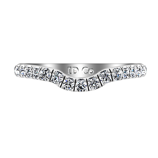 Diamond Wedding Band Emotion 0.58 Cts 14K White Gold