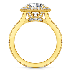 Halo Engagement Ring Anthea 14K Yellow Gold
