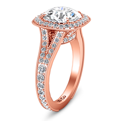 Halo Engagement Ring Anthea 14K Rose Gold