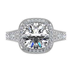 Halo Engagement Ring Anthea 14K White Gold