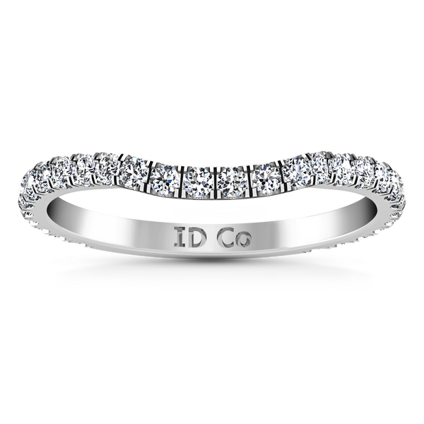 Diamond Wedding Band Melody 0.45 Cts 14K White Gold