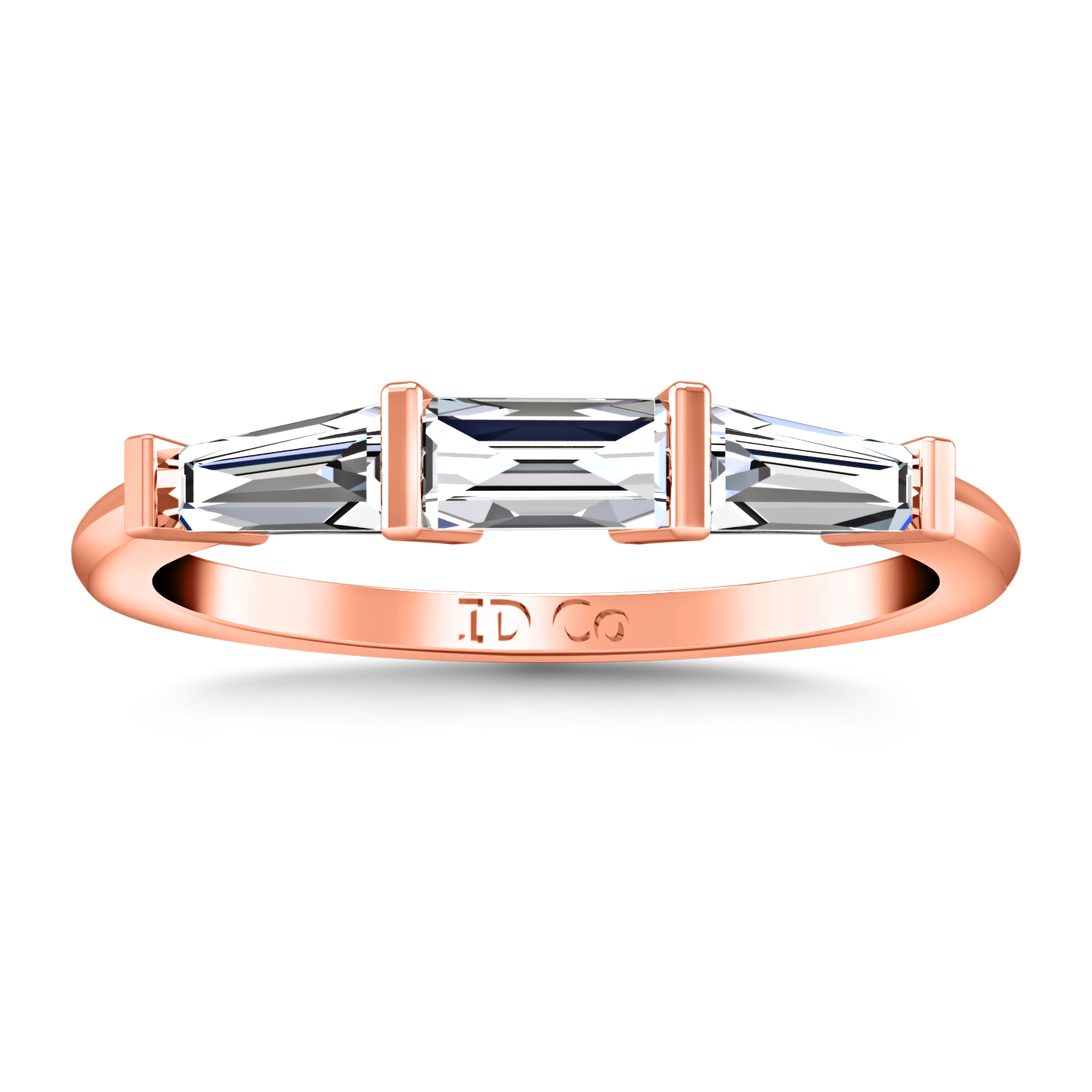Diamond Wedding Band Prong Channel Set Tappered Baguette 0 38 Cts