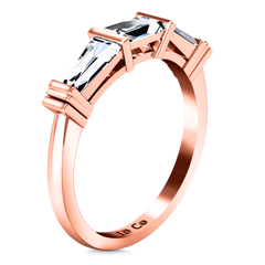 Diamond Wedding Band Structural Tapered Baguette 0.24 Cts 14K Rose Gold