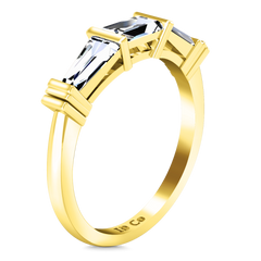 Diamond Wedding Band Structural Tapered Baguette 0.24 Cts 14K Yellow Gold
