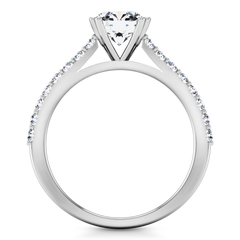 Pave Engagement Ring Legacy 14K White Gold