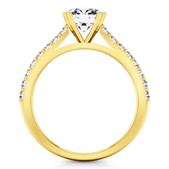 Pave Engagement Ring Legacy 14K Yellow Gold