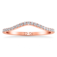 Diamond Wedding Band Legacy 0.28 Cts 14K Rose Gold