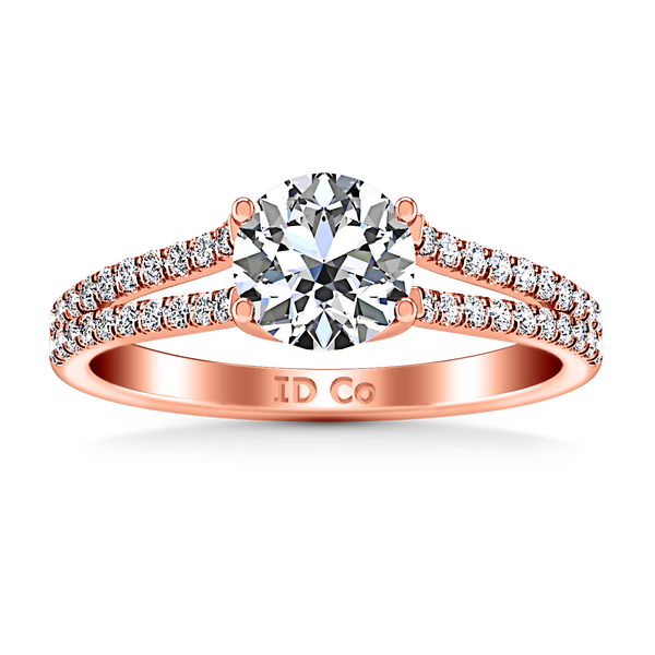 Pave Engagement Ring Dream 14K Rose Gold
