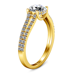 Pave Engagement Ring Dream 14K Yellow Gold