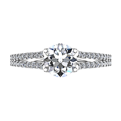 Pave Engagement Ring Dream 14K White Gold