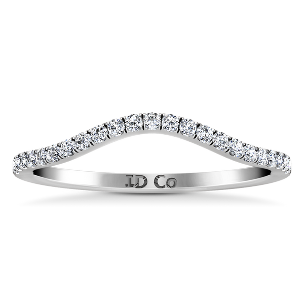 Diamond Wedding Band Dream 0.24 Cts 14K White Gold