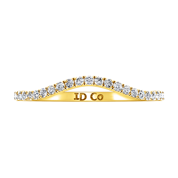 Diamond Wedding Band Dream 0.24 Cts 14K Yellow Gold