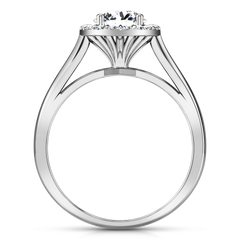 Halo Engagement Ring Soleil 14K White Gold
