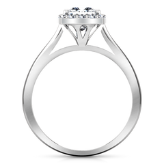 Halo Princess Cut Engagement Ring Lumiere 14K White Gold
