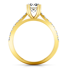 Pave Engagement Ring Michelle 14K Yellow Gold