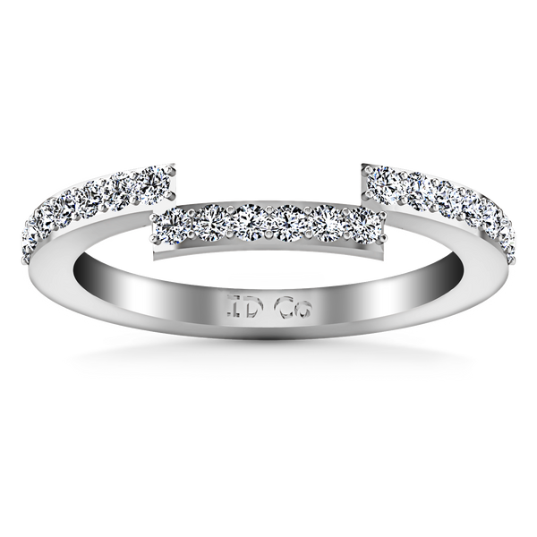Diamond Wedding Band Michelle 0.42 Cts 14K White Gold
