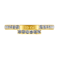Diamond Wedding Band Michelle 0.42 Cts 14K Yellow Gold
