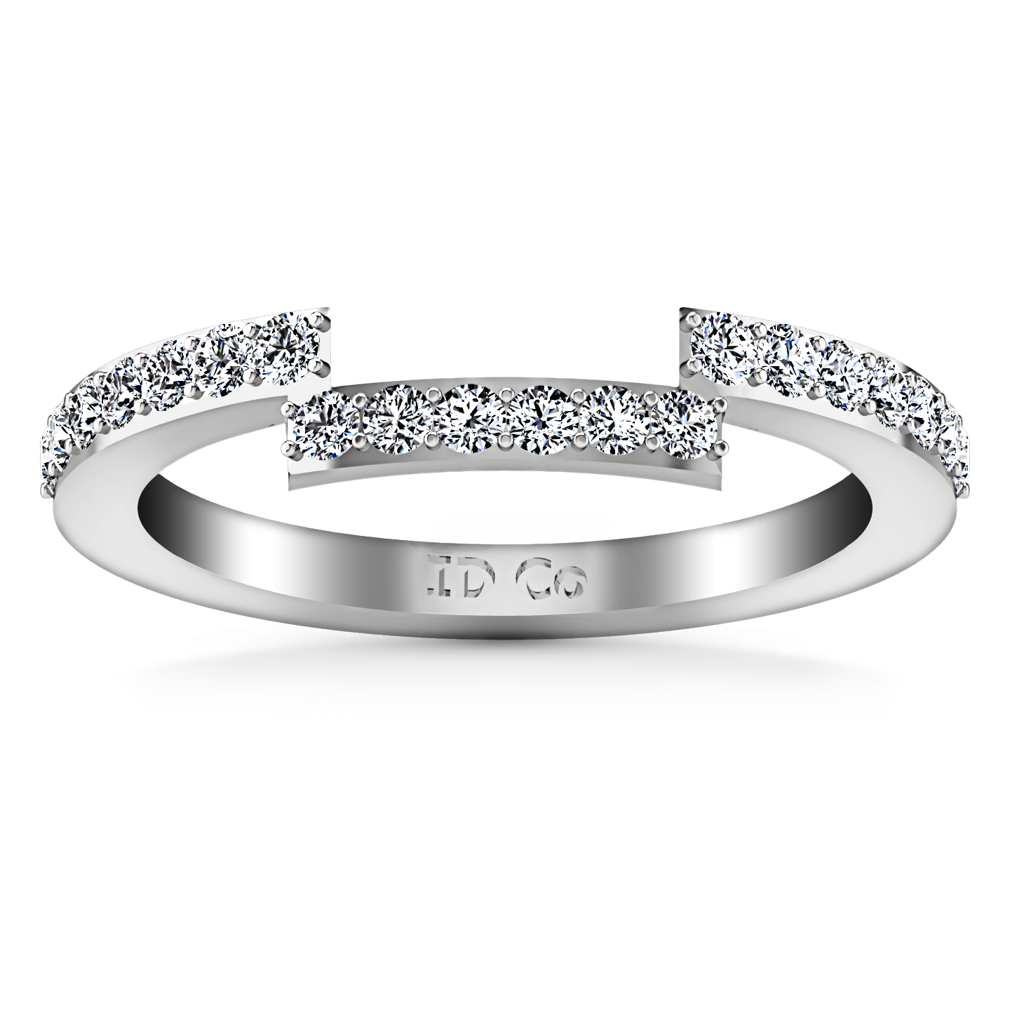 It is just a photo of Diamond Wedding Band Jasmine 50.50 Cts 50K White Gold