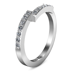 Diamond Wedding Band Jasmine 0.31 Cts 14K White Gold