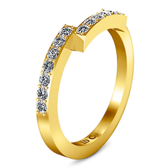Diamond Wedding Band Jasmine 0.31 Cts 14K Yellow Gold