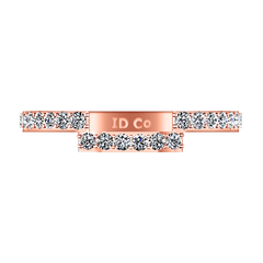 Diamond Wedding Band Jasmine 0.31 Cts 14K Rose Gold