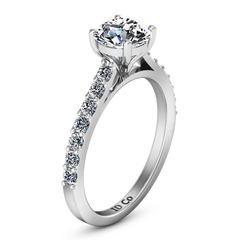 Pave Engagement Ring Harmoney 14K White Gold