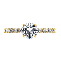 Pave Engagement Ring Harmoney 14K Yellow Gold
