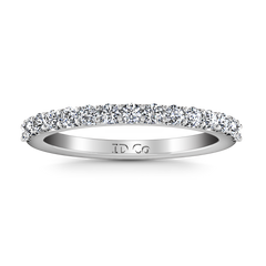 Diamond Wedding Band Harmoney 0.32 Cts 14K White Gold
