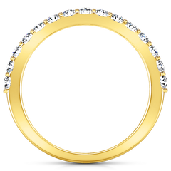 Diamond Wedding Band Harmoney 0.32 Cts 14K Yellow Gold
