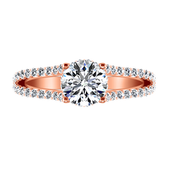Pave Engagement Ring Fantasia 14K Rose Gold