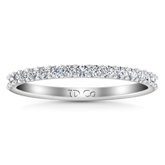 Diamond Wedding Band Fantasia 0.17 Cts 14K White Gold