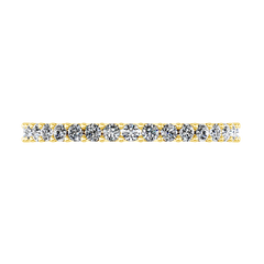 Diamond Wedding Band Fantasia 0.17 Cts 14K Yellow Gold