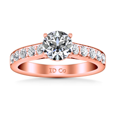Pave Engagement Ring Allure 14K Rose Gold