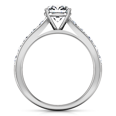 Pave Engagement Ring Allure 14K White Gold