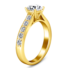 Pave Engagement Ring Allure 14K Yellow Gold