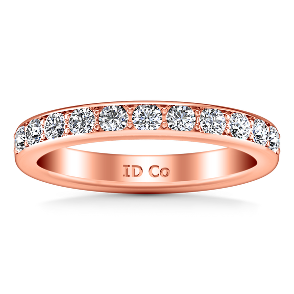 Diamond Wedding Band Allure 0.21 Cts 14K Rose Gold