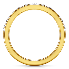 Diamond Wedding Band Allure 0.21 Cts 14K Yellow Gold