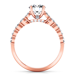 Pave Engagement Ring Grande 14K Rose Gold