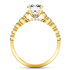 Pave Engagement Ring Grande 14K Yellow Gold