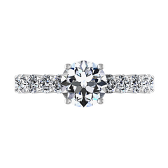 Pave Engagement Ring Grande 14K White Gold