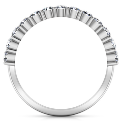 Diamond Wedding Band Grande 0.66 Cts 14K White Gold